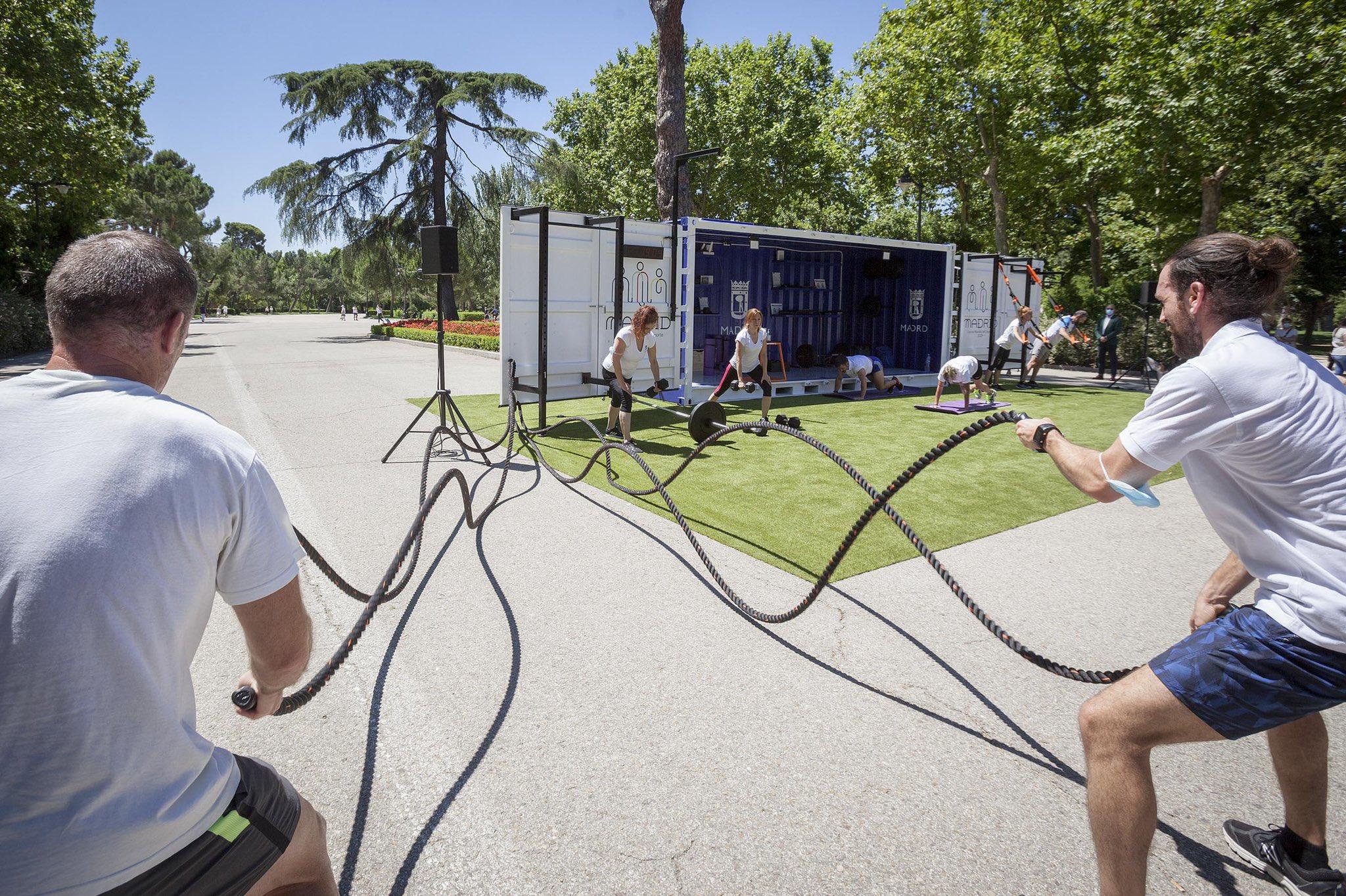 Cubo Gym Madrid en el Parque del Retiro